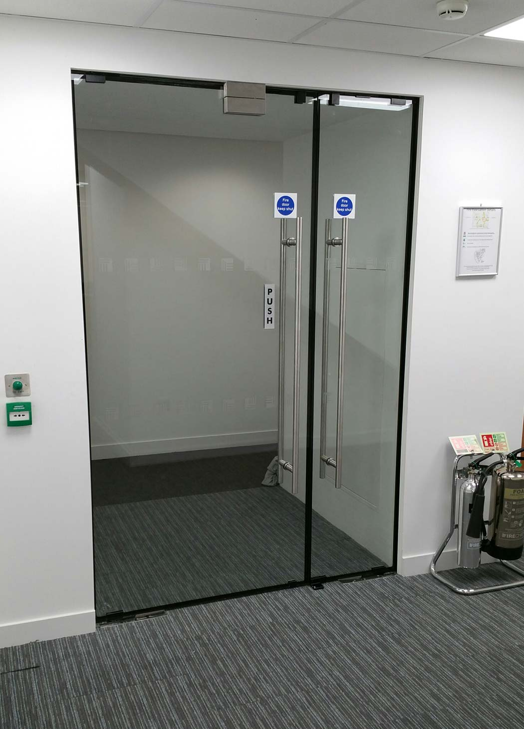 Fire rated glass glasstec systems lunax fire resistant glass door planetlyrics Choice Image