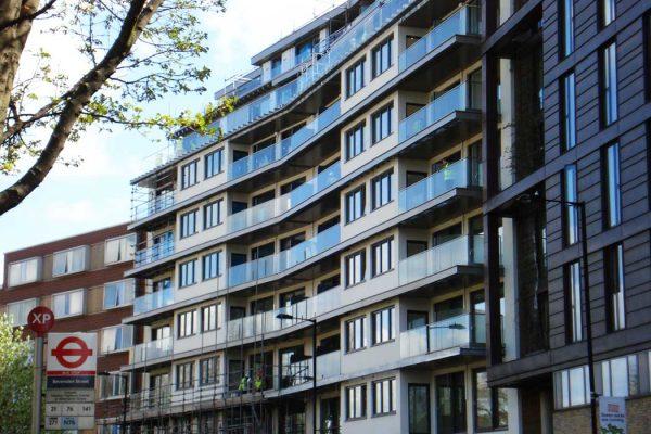 Glass balustrades on modern residential development
