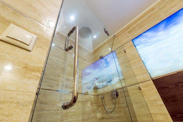 Glass shower close-up