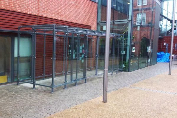 Glass canopy shelter