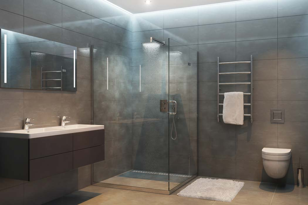 All-glass shower enclosure