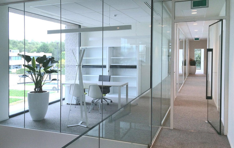 Internal glass fire doors